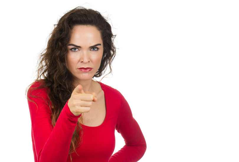 bigstock Annoyed Angry Woman Pointing 59423492 810x549 min